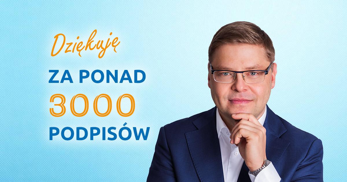 Ponad 3000 podpisów poparcia dla Pawła Przepióry