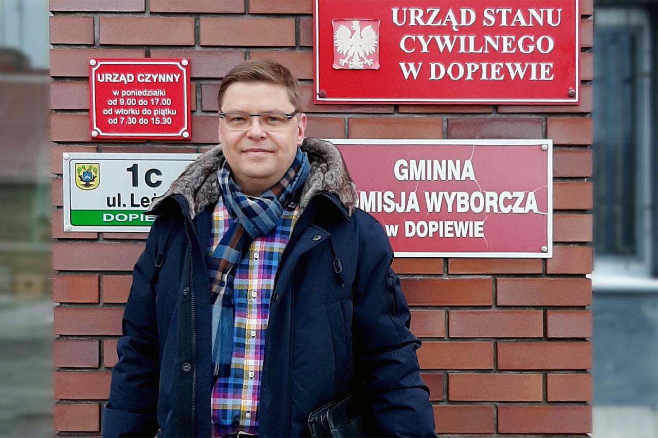 Paweł Przepióra zarejestrowanym kandydatem na wójta gminy Dopiewo