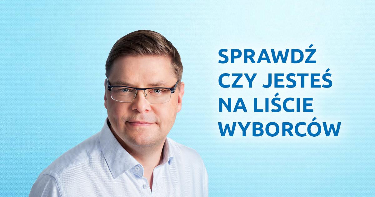 Paweł Przepióra: sprawdź czy jesteś na liście wyborców